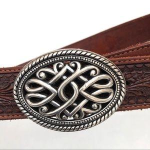 Wrangler Leather Belt Sz 34 Brown